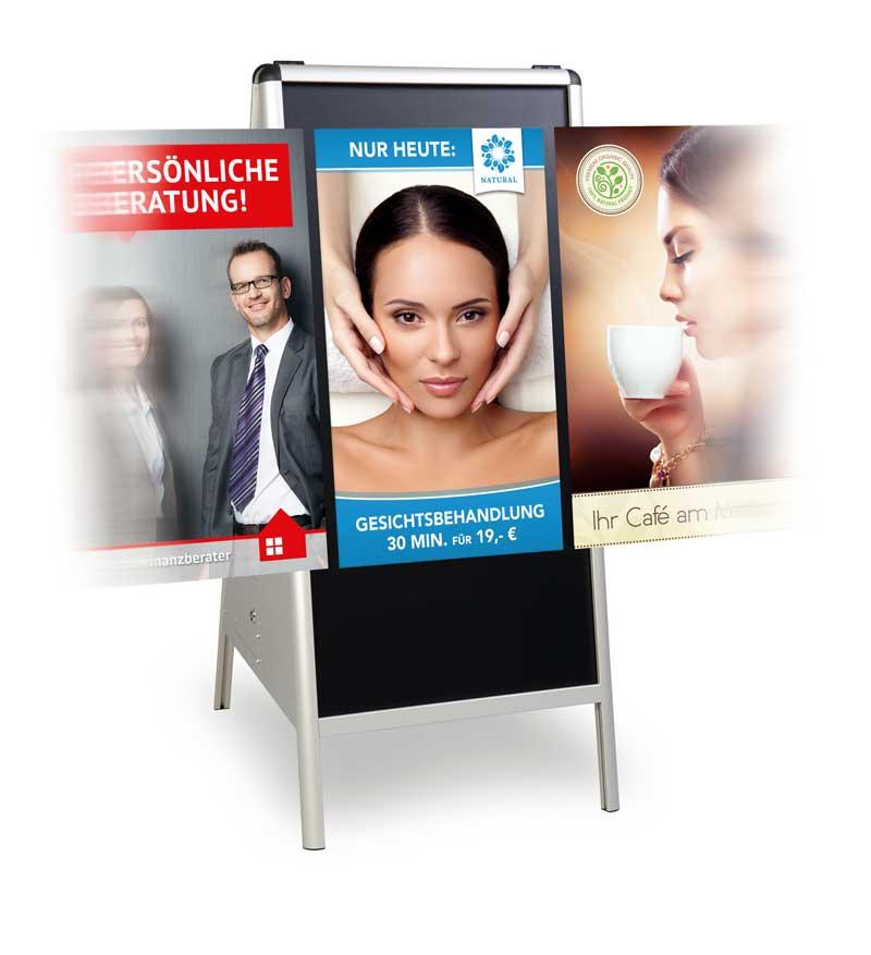 elektronischer Werbeaufsteller